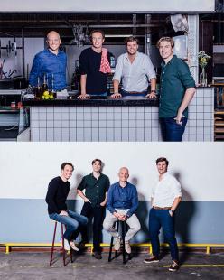 Foto's van de founders