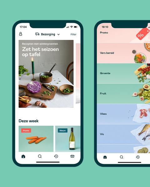 Screenshots uit de app